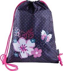 Спортна торба - Flowers Butterfly -