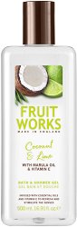 Fruit Works Coconut & Lime Bath & Shower Gel - Душ гел и пяна за вана с аромат на кокос и лайм -