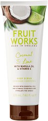 Fruit Works Coconut & Lime Body Scrub - Ексфолиант за тяло с аромат на кокос и лайм - душ гел