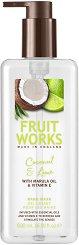 Fruit Works Coconut & Lime Hand Wash - Течен сапун за ръце с аромат на кокос и лайм -