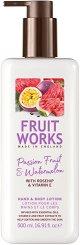 Fruit Works Passion Fruit & Watermelon Hand & Body Lotion - Лосион за тяло и ръце с аромат на маракуя и диня - душ гел