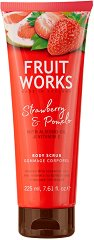 Fruit Works Strawberry & Pomelo Body Scrub - Ексфолиант за тяло с аромат на ягода и помело - сапун