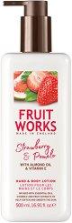 Fruit Works Strawberry & Pomelo Hand & Body Lotion - Лосион за тяло и ръце с аромат на ягода и помело - шампоан