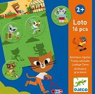 Лото - Забавни животни - Занимателна игра -