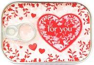 Картичка-консерва - Heart for you -