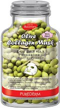 Purederm Olive Collagen Face Mask - Лист маска за лице с колаген и масло от маслина - душ гел