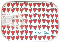 Картичка-консерва - Hearts -
