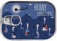 Картичка-консерва - Merry Christmas: Къщички - пъзел