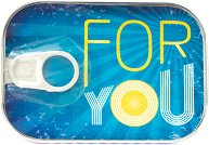 Картичка-консерва - For You: синя -