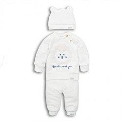 Бебешки комплект - Блуза, панталон и шапка -