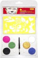 Боички за лице - Радост - Комплект от 6 цвята с четка и шаблони