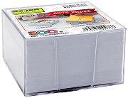 Бяло хартиено кубче с пластмасова поставка