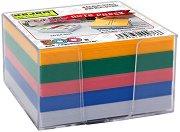 Цветно хартиено кубче с пластмасова поставка