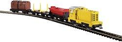Товарен влак с дизелов локомотив - myTrain - Аналогов стартов комплект с релси - макет