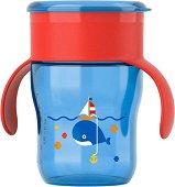 Неразливаща се чаша с дръжки 360° - 260 ml - За бебета над 9 месеца -