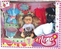 "Пишкаща кукла - Nena - Детска играчка с аксесоари от серията ""Bambolina"" - кукла"
