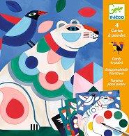 Оцветявай с бои - Чудати животни - Творчески комплект -