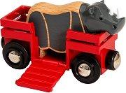 """Вагон превозващ носорог - Играчки от серията """"Brio: Аксесоари"""" - играчка"""