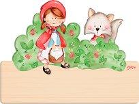 Табела за детска стая - Червената Шапчица - Комплект със стикери -