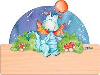 Табела за детска стая - Драконче - Комплект със стикери -