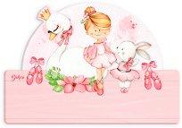 Табела за детска стая - Балерина - Комплект със стикери -