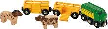 """Фермерско влакче - Детски комплект за игра от серията """"Brio: Влакчета"""" -"""