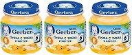Nestle Gerber - Пюре от пуйка с тиква и картоф - Бурканчета от 125 g за бебета над 6 месеца 2 + 1 подарък - пюре