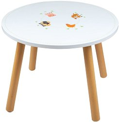 Детска дървена маса - Ферма -
