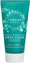 Lumene Puhdas Deeply Purifying Birch Scrub - Ексфолиант за лице за мазна и комбинирана кожа -
