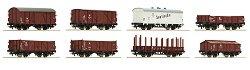 Товарни вагони използвани от Немските национални железници - ЖП модели - комплект от 8 броя - макет