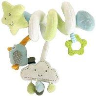 """Спирала с облаче и птиче - Детска играчка за столче или количка от серията """"Clouds"""" -"""