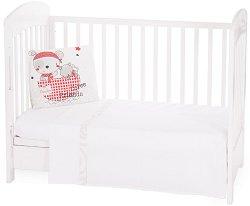 Бебешки спален комплект от 3 части - Pirates EU Style - 100% ранфорс за матрак с размери 70 x 140 cm -