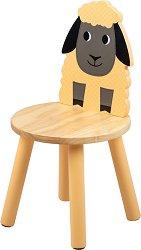 """Детско дървено столче с облегалка - Овчица - От серията """"Tidlo"""" -"""