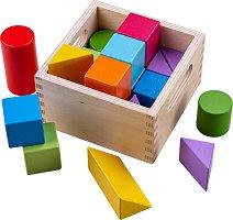 Дървени кубчета - Геометрични фигури -