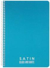 Ученическа тетрадка със спирала - Satin : Формат А5 с широки редове - 1, 5 или 10 броя -