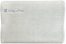 Бебешка ергономична възглавница от мемори пяна - Velvet - С размери 34 / 25 / 6 cm -