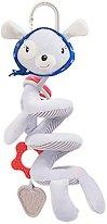 """Спирала със зайче - Red Heart - Детска играчка за столче или количка от серията """"Love Rome"""" -"""