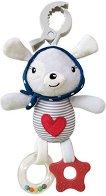 """Плюшено зайче - Red Heart - Детска играчка за столче или количка от серията """"Love Rome"""" - играчка"""