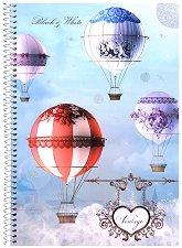 Ученическа тетрадка със спирала - Vintage : Формат А4 с широки редове - 1, 5 или 10 броя -