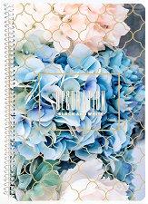 Ученическа тетрадка със спирала - Decoration : Формат А4 с широки редове - 1 или 5 броя -