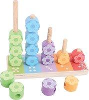 Играчка за нанизване - Цветя и числа - играчка