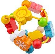 Активна топка - Детска дървена играчка - играчка