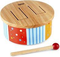 Дървено барабанче - Дъга - Детска играчка -