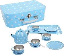 Чаен сервиз в кутия - Polka Dots - Детски комплект за игра -