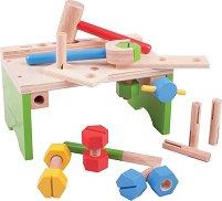 Дървена работилница - Детски комплект за игра с аксесоари - играчка