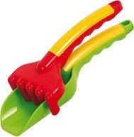 Лопатка и гребло - Детски комплект за игра с пясък -