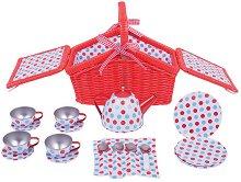 Чаено парти в парка - Детски комплект за игра с аксесоари в кошница -
