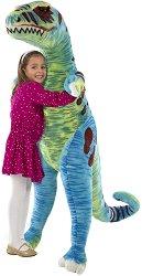 Тиранозавър Рекс - Плюшена играчка с височина 130 cm -