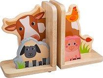 Стойки за книги - Ферма - Аксесоар за детска стая -