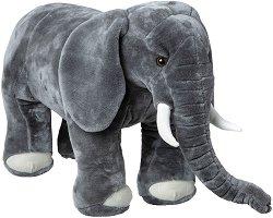 Слонче - Плюшена играчка с дължина 84 cm -
